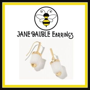 NWT - Jane Bauble Earrings in Soft White & Gold